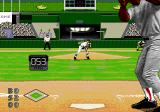 World Series Baseball '96 Genesis The speed of the throw is shown.