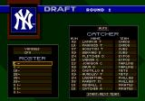 World Series Baseball 98 Genesis Drafting in progress