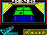 Ping Pong ZX Spectrum Loading screen.