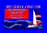 Sailing Amstrad CPC Loading screen.