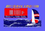 Sailing Amstrad CPC Title screen.