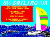 Sailing ZX Spectrum Loading screen.
