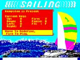 Sailing ZX Spectrum Title screen.