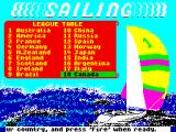 Sailing ZX Spectrum Choose your country.