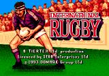 International Rugby Genesis Title screen