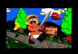 Wonder Boy in Monster Land Amstrad CPC Loading screen.