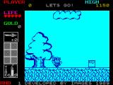 Wonder Boy in Monster Land ZX Spectrum Let's go.