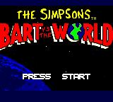The Simpsons: Bart vs. the World Game Gear Title