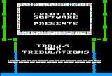 Trolls and Tribulations Apple II Title screen