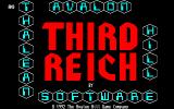 Third Reich Amiga Title screen