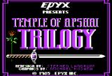 Temple of Apshai Trilogy Apple II Title screen