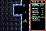 Temple of Apshai Trilogy Apple II Shooting my bow at a skeleton. (double hi-res graphics mode)