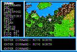 Legacy of the Ancients Apple II Heading out of Thornberry, into the wilderness.