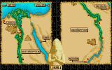 Day of the Pharaoh Atari ST Map of Egypt.