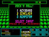 Rock 'n Roll ZX Spectrum Title screen.