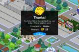 "The Simpsons: Tapped Out iPhone Reward for ""helping"" your neighour"