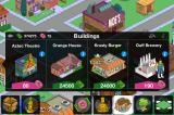 The Simpsons: Tapped Out iPhone Building options