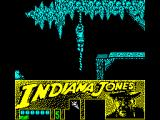 Indiana Jones and the Last Crusade: The Action Game ZX Spectrum Climbing a rope.