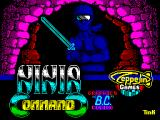 Ninja Commando ZX Spectrum Loading screen.