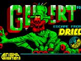 Gilbert: Escape from Drill ZX Spectrum Loading screen.
