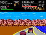 Chase H.Q. II: Special Criminal Investigation SEGA Master System Totally damaged the station wagon