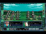 Dragon Knight 4 FM Towns Armies attack each other
