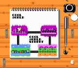 Cool World NES A map of the levels