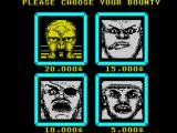 Wanted ZX Spectrum Choose your bounty.
