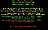 Wheel of Fortune: New Second Edition DOS Title 1