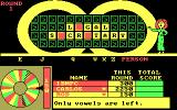 Wheel of Fortune: New Second Edition DOS Only vowels are left.