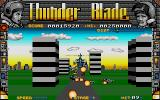 ThunderBlade Atari ST Flying behind the 'copter.