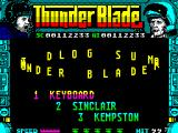 ThunderBlade ZX Spectrum Title screen.