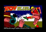 Roy of the Rovers Amstrad CPC Loading screen.