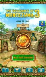 The Treasures of Montezuma 3 Android Main menu (free version)