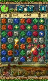 The Treasures of Montezuma 3 Android The red totem shoots fireballs at the board