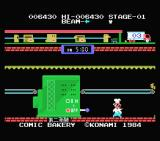 Comic Bakery MSX Level 1 clear (Japanese version)