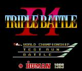 F1 Triple Battle TurboGrafx-16 Main Menu