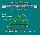 F1 Triple Battle TurboGrafx-16 The lap