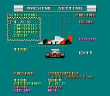 F1 Triple Battle TurboGrafx-16 Machine settings