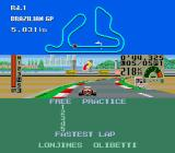 F1 Triple Battle TurboGrafx-16 On the track