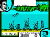 Supersports: The Alternative Olympics ZX Spectrum Under Water Assault Course.