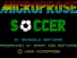 Keith Van Eron's Pro Soccer ZX Spectrum Loading screen.