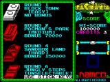 Pac-Mania ZX Spectrum Choose your level.