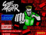 Street Fighter ZX Spectrum Loading screen.