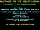 The Quest for the Golden Eggcup ZX Spectrum Title screen.
