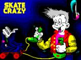 Skate Crazy ZX Spectrum Loading screen.