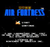 Air Fortress NES Title Screen
