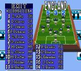 90 Minutes: European Prime Goal SNES Team formation