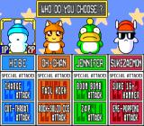 Hebereke's Popoon SNES Choose your character