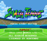 Smash Tennis SNES Title Screen